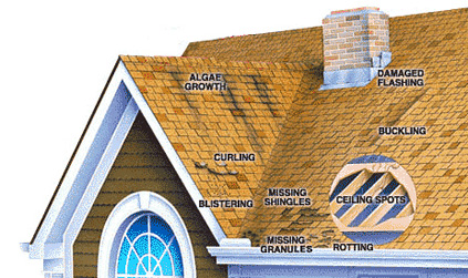 what are some of the roof repair warning signs